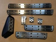 99-05 LEXUS IS200 IS300 SPORT SET OF 4 DOOR STEP CHROME TRIMS PEDAL PADS  #0112